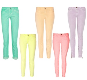 Pastel Colored Skinny Jeans