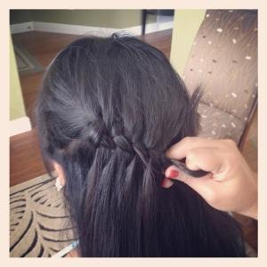 Modern Girl's Martha Waterfall Twist Braid